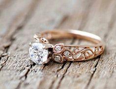 222 Luxury Rose Gold Engagement Ring Vintage For Your Perfect Wedding Celtic Wedding Rings, Wedding Rings Rose Gold, Wedding Rings Vintage, Wedding Ring Bands, Vintage Rings, Unique Vintage, Gold Wedding, Trendy Wedding, Wedding Bride