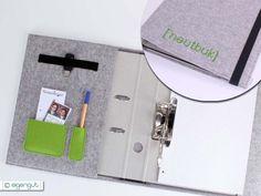Taschenorganizer - Organizer mit A4 Ordner Schreibmappe aus Filz - ein Designerstück von eigengut bei DaWanda