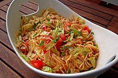 Feuriger Spaghettisalat