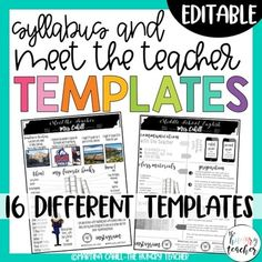 This editable resources included 6 different Meet the Teacher templates and 8 different Syllabus templates to use in your upper elementary, middle school, or high school classroom. Create eye-catching forms that your students will actually read. ***********************************************This re... Syllabus Template, Meet The Teacher Template, Call Me Maybe, High School Classroom, Upper Elementary, Infographic Templates, Teacher Resources, Middle School, Teaching