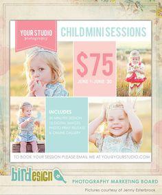 Photography Marketing board - Newsletter  template -E497-1. $8.00, via Etsy.