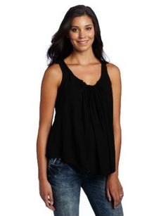 Jules & Jim Women's Maternity Slvless Blouse With Leather Cord, Black, X-Small Jules & Jim. $79.00