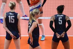 defeated the Netherlands in the women's volleyball bronze-medal match at the Rio Olympics on Saturday. Kimberly Hill, Magic Number, Volleyball Pictures, Women Volleyball, Yoga Shorts, Basketball Teams, My Passion, Olympics, Rio