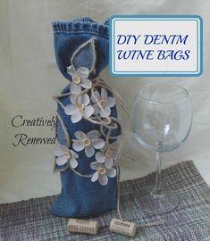 DIY Denim Wine Bag