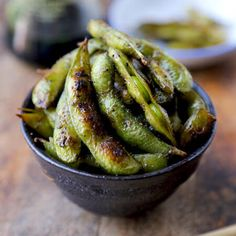 Get this healthy snack recipe from Pickled Plum. Boiled and pan fried until the edamame pods are perfectly charred. Nutty and packed with umami!