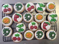 Plantas vs zombis Sugar Cookies. La orden por WhtevermakesUhappy