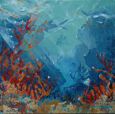 Underwater coral wreath painting - Google Search
