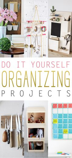With the New Year here so many of us catch the Organizing Bug (hey…it's better than the flu right : )…so for those of you that are suffering from this bug…here are some Fabulous DIY Organizing Projects that you can whip up over a weekend and they not only will help you get organized…the look …