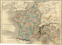 Carte de France sous Napoléon