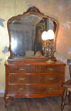 Buffette de comedor con espejo restaurado restauraci n - Restauracion de muebles antiguos paso a paso ...