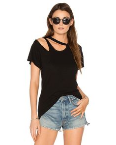 online shopping for LNA Double Cut Tee from top store. See new offer for LNA Double Cut Tee Zerschnittene Shirts, Diy Cut Shirts, Ripped Shirts, T Shirt Diy, Zumba Shirts, Cutting Shirts, Diy Cutout Shirt, Cutout Shirts, Cut Up Tees