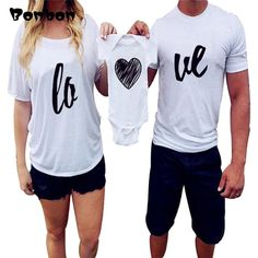 Fashion Letter Dad Mom Baby Family Matching Outfits Cotton Short Sleeve T-Shirt Baby Romper Family Look Mother Dad Baby Clothes