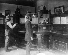 1885 Fremont County Bank interior (McGee Building) Canon City, Colorado