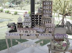 www.kamalion.com.mx - Mesa de Dulces / Candy Bar / Wedding / Boda / Lila &…