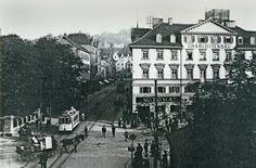 Der Charlottenplatz 1920: Das große Gebäude am rechten Bildrand war das Stadtpalais des württembergischen Kriegsministers Ernst von Hügel (1774–1849). Foto: VZZZ-Chronist Martin Gerlach