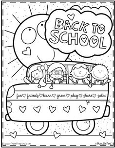 Here are the Amazing Back To School Coloring Coloring Page. This post about Amazing Back To School Coloring Coloring Page was posted . Back To School Art, Back To School Night, Back To School Crafts, 1st Day Of School, Beginning Of The School Year, School Fun, Middle School, High School, Kindergarten Coloring Pages