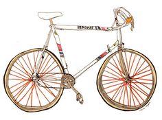 bike drawings by Marion Täschler