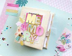 My shiny studio: Scrap 2 Days workshop, San Marino - Layout and Mini album Mini Albums Scrap, Mini Scrapbook Albums, Scrapbook Paper Crafts, Diy Scrapbook, Mini Album Tutorial, Crate Paper, Album Photo, Mini Books, Diy And Crafts
