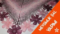 Seasonal Shawl Making - Şeyma& Knitting Models Knitting Stitches, Knitting Socks, Knitting Patterns, Crochet Patterns, Crochet Shawls And Wraps, Crochet Scarves, Crochet Yarn, Diy Crochet Flowers, Crochet Crafts