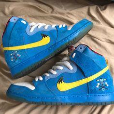 watch 61047 ee305 Nike Shoes   Nike Dunk High Premium Sb Blue Ox La Familia   Color   Blue Yellow   Size  9.5