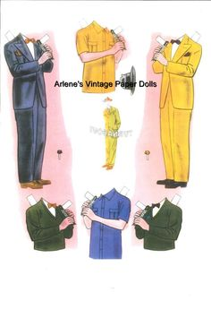 King of Swing and Queen of Song paper dolls / Ebay