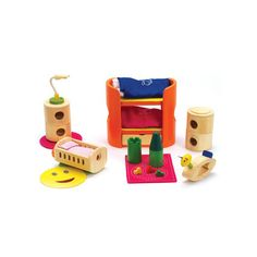 Bamboo Dollhouse Trendy Nursery
