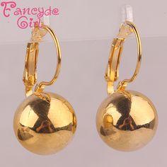 Fancyde Cô Gái Thời Trang Jewerly Mạ Vàng Ball Dangle Earrings Bridal Phụ Nữ Drop Earrings quà tặng Trang Sức vintage