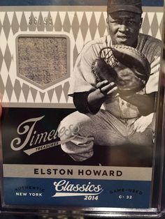 Elston Howard 2014 Panini Classics.  Get the box break and review from Rich Klein here.
