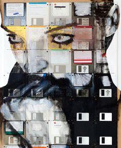 Floppy disk art by Nick Gentry - WallArt101