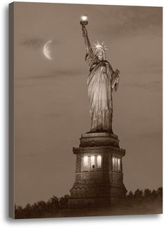 A Beacon of Hope by Rod Chase Photographic Print on Wrapped Canvas in Sepia