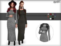 OranosTR's Knit Metallic Dress
