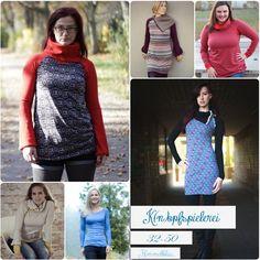 Die K(n)opfspielrei ist ein weibliches, körperbetontes Raglan Oberteil mit seitlicher Knopfleiste. Du hast die Möglichkeit zwischen 3 Längen zu wählen: Shirt, Long-Shirt oder Kleid. Jede Länge...