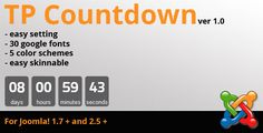 TP Countdown . TP CountDown is easy editable countdown module for