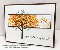 Stampin'Up! Sheltering Tree stamp set, Gratitude, Fall, autumn, thanksgiving…
