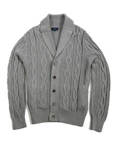 Cotton and Cashmere Cable Shawl Cardigan