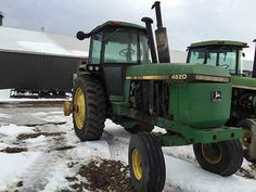 John Deere 4650 tractor salvaged for used parts. This unit is available at All States Ag Parts in Hendricks, MN. Call 877-530-6620 parts. Unit ID#: EQ-25224. The photo depicts the equipment in the condition it arrived at our salvage yard. Parts shown may or may not still be available. http://www.TractorPartsASAP.com