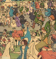 Widdicombe Fair, Pamela Colman Smith Collection, Bryn Mawr College Library