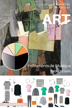 Instruments de Musique by Pablo Picasso - Inspiring an Unusual Business Tote Bag Travel Wardrobe