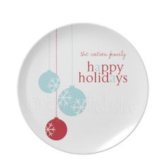 the life and designs of the spotted olive™: {gift idea} pesonalized melamine holiday plates