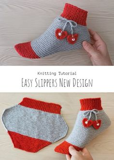 Knit Easy Slippers New Design Easy Knitting, Knitting Socks, Knitting Patterns Free, Free Pattern, Knitting Ideas, Going Home, Baby Booties, Feeling Great, News Design