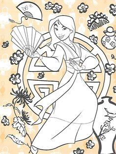 Disney's Mulan - Coloring Page