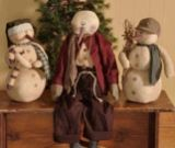 Primitive Snowmen Dolls