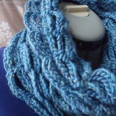 Azure Blue Scalloped Crochet Cow $35.00