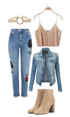 """Untitled #381"" by pandasdream ❤ liked on Polyvore featuring LE3NO, Yves Saint Laurent and Topshop"