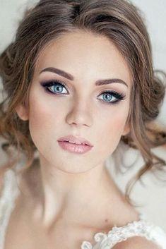 26 Best Wedding Makeup for Blue Eyes images