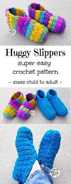 7186787cfe8c2 42 Best Easy Crochet Slippers images in 2018 | Yarns, Crochet ...