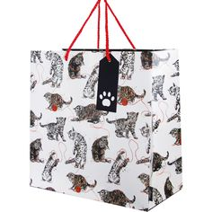 Cats large gift bagLarge Cat Gift bag Size: 280 x 280mm x 140mm when open Double red rope handles and paw print cut out tag. Manufactured by Deva Designs LtdCards and Gift Wrap