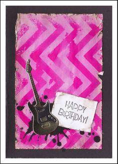 Lucescrap: Rosa gitarkort Cover, Happy, Books, Libros, Book, Blankets, Book Illustrations, Libri