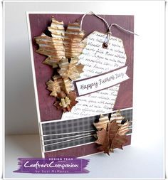 A5 card made using Crafter's Companion Die'sire Mixed Media Dies - Maple Leaf  Designed by Suzi McManus #crafterscompanion