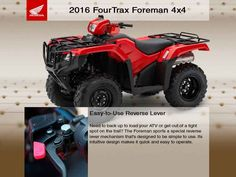 New 2016 Honda FourTrax Foreman 4x4 ES ATVs For Sale in Virginia. 2016 Honda FourTrax Foreman 4x4 ES, <li> Tis the Season to Get Your Best Deal at FMS. On Sale Now through December 31, 2016. MSRP is $7,349.00. Our FMS Sale Price is $6,449.00. </li><br> *Price shown is based on the manufacturer's suggested retail price (MSRP) and is subject to change. MSRP excludes destination charges, optional accessories, applicable taxes, installation, setup and/or other dealer fees.<p><br></p><br /> <br…